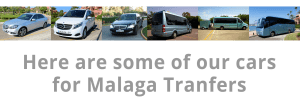 Here are some of our cars for Malaga transfers